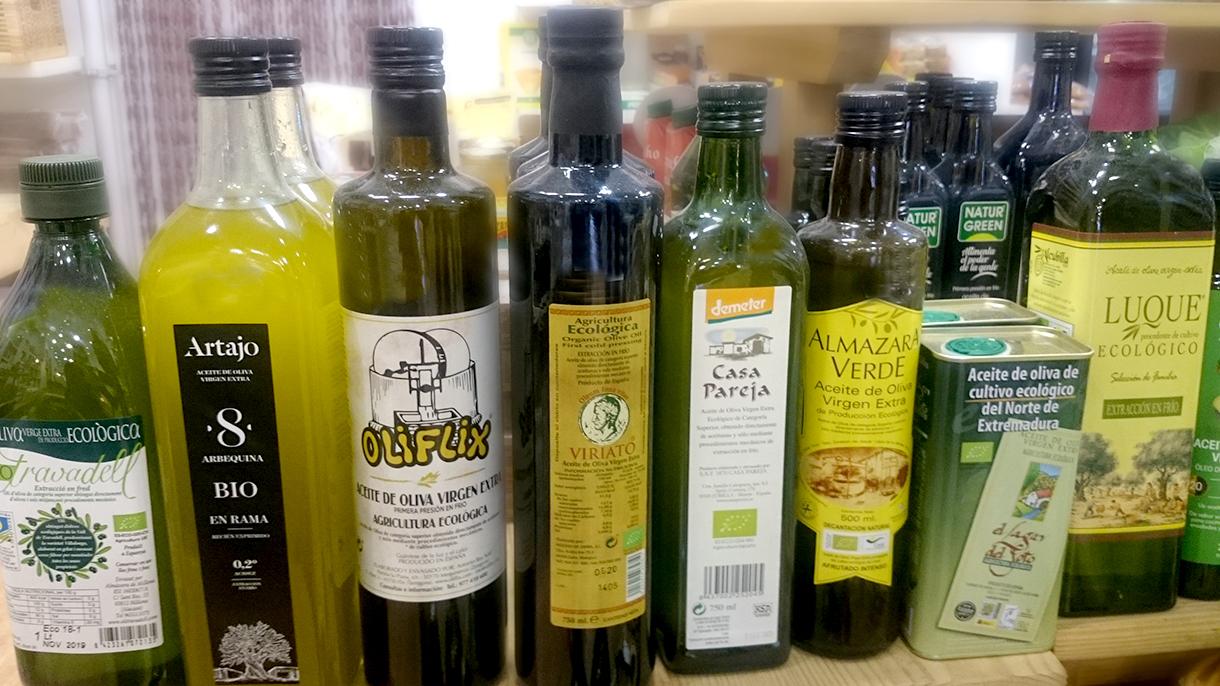 alimentos aceite, alimentacion ecologica en premdan ecoespacio