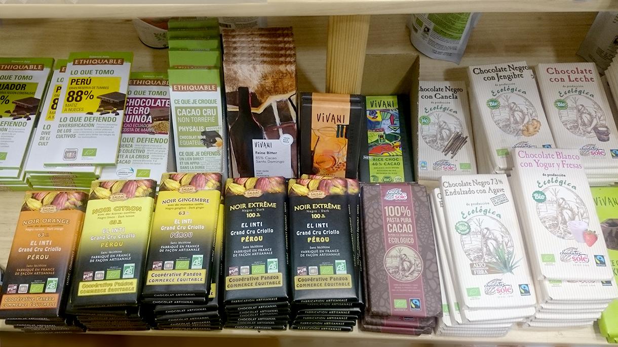 alimentos chocolate, alimentacion ecologica en premdan ecoespacio