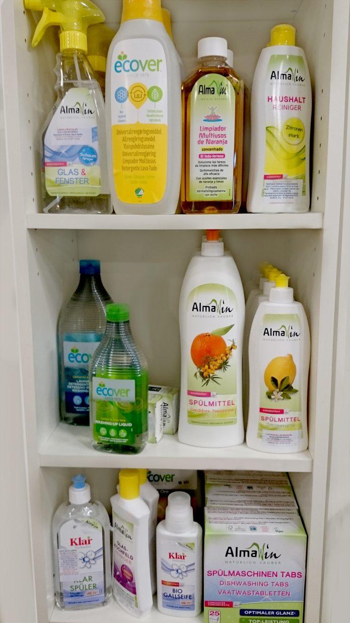 ecoespacio, ecotienda premdan, articulos ecologicos, drogueria (marcas: ecover, almawin, klar)