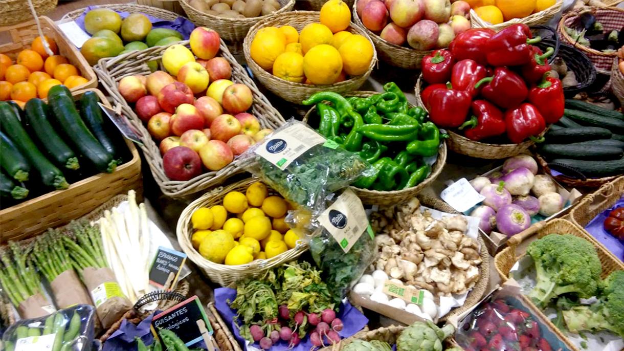 alimentos frutas y verduras, alimentacion ecologica en premdan ecoespacio